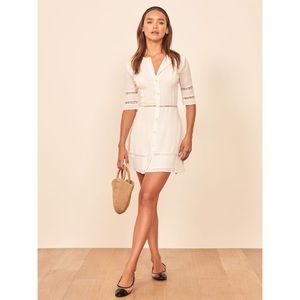 NWT Reformation Sonnet Dress || Ivory